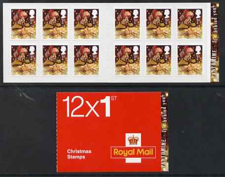 Booklet - Great Britain 2008 Christmas - Pantomine booklet containg 12 x 1st Class self adhesive stamps, cover inscribed It