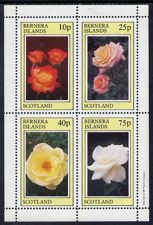 Bernera 1981 Roses perf  set of 4 values (10p to 75p) unmounted mint