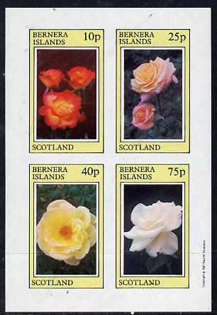 Bernera 1981 Roses imperf  set of 4 values (10p to 75p) unmounted mint