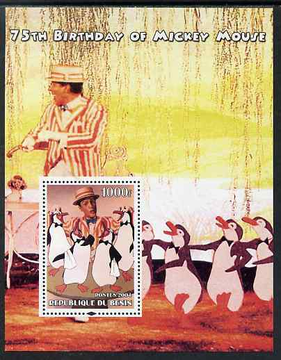 Benin 2004 75th Birthday of Mickey Mouse - Mary Poppins perf m/sheet unmounted mint