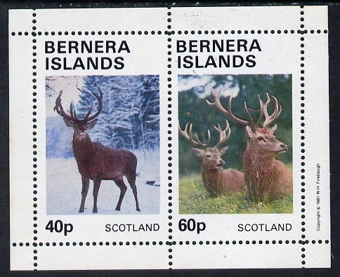 Bernera 1981 Deer perf  set of 2 values (40p & 60p) unmounted mint
