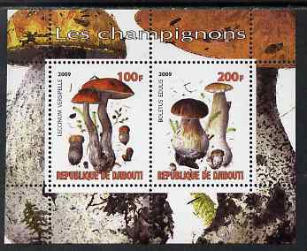 Djibouti 2009 Fungi #1 perf sheetlet containing 2 values unmounted mint