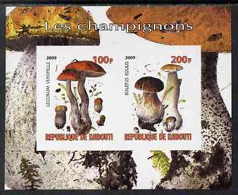 Djibouti 2009 Fungi #1 imperf sheetlet containing 2 values unmounted mint
