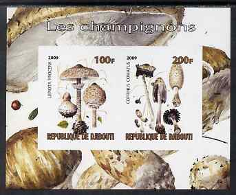 Djibouti 2009 Fungi #3 imperf sheetlet containing 2 values unmounted mint