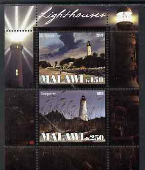 Malawi 2009 Lighthouses perf sheetlet containing 2 values unmounted mint