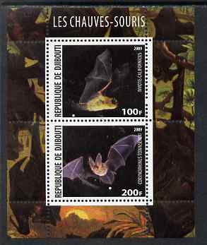 Djibouti 2009 Bats perf sheetlet containing 2 values unmounted mint