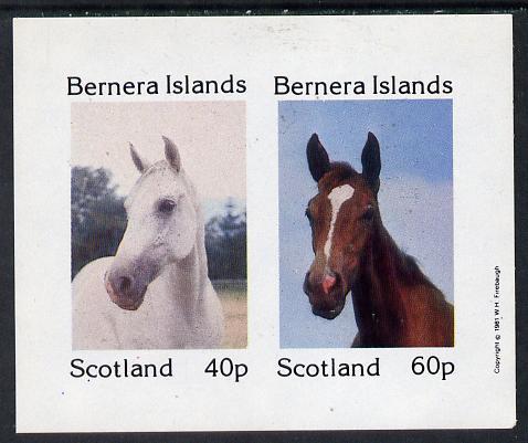 Bernera 1981 Horses imperf  set of 2 values (40p & 60p) unmounted mint