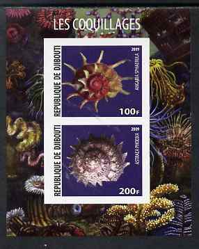 Djibouti 2009 Shells imperf sheetlet containing 2 values unmounted mint