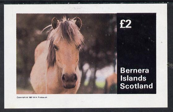 Bernera 1981 Horses imperf deluxe sheet (�2 value) unmounted mint
