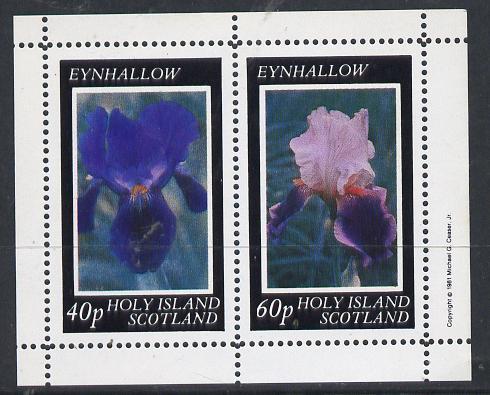 Eynhallow 1981 Irises perf  set of 2 values unmounted mint