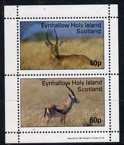 Eynhallow 1981 Deer perf  set of 2 values (40p & 60p) unmounted mint