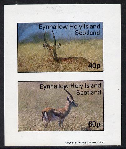 Eynhallow 1981 Deer imperf  set of 2 values (40p & 60p) unmounted mint