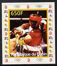 Benin 2007 Boxing - individual imperf deluxe sheet with Olympic Rings & Disney Character unmounted mint. Note this item is privately produced and is offered purely on its thematic appeal