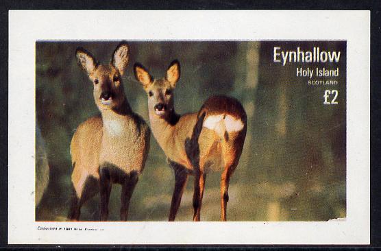 Eynhallow 1981 Deer imperf deluxe sheet (�2 value) unmounted mint