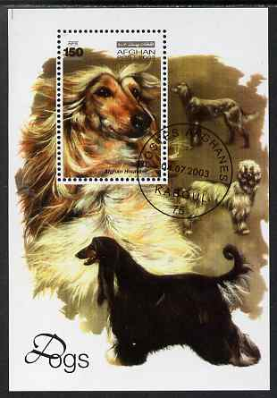 Afghanistan 2003 Dogs (Afghan Hound) perf m/sheet cto used
