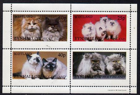 Eynhallow 1981 Cats perf  set of 4 values (10p to 75p) unmounted mint