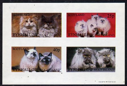 Eynhallow 1981 Cats imperf  set of 4 values (10p to 75p) unmounted mint