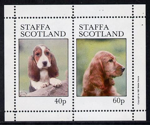 Staffa 1981 Dogs perf  set of 2 values (40p & 60p) unmounted mint