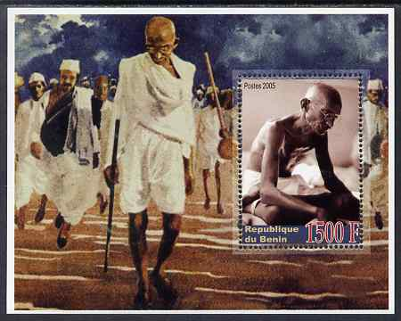 Benin 2005 Mahatma Gandhi perf m/sheet unmounted mint. Note this item is privately produced and is offered purely on its thematic appeal