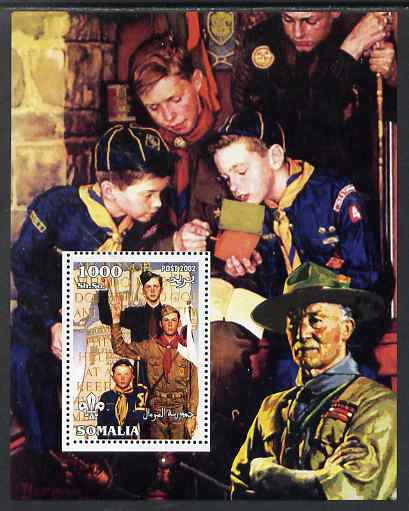 Somalia 2002 Norman Rockwell Scouts perf s/sheet unmounted mint. Note this item is privately produced and is offered purely on its thematic appeal