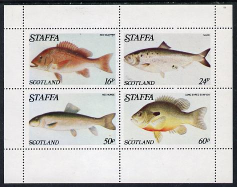 Staffa 1979 Fish #04 (Snapper, Shad, etc) perf  set of 4 values (16p to 60p) unmounted mint