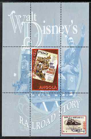 Angola 1999 Walt Disney's Railroad Story #4 perf s/sheet unmounted mint