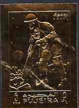 Fujeira 1969 Man on Moon 5r Exploration embossed in gold foil, imperf