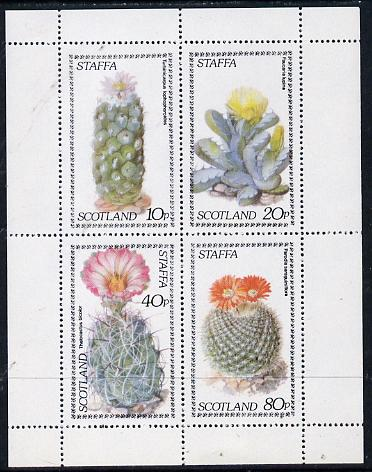 Staffa 1979 Cacti perf  set of 4 values (10p to 80p) unmounted mint
