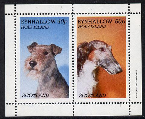 Eynhallow 1981 Dogs perf  set of 2 values (40p & 60p) unmounted mint