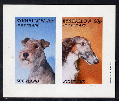 Eynhallow 1981 Dogs imperf  set of 2 values (40p & 60p) unmounted mint