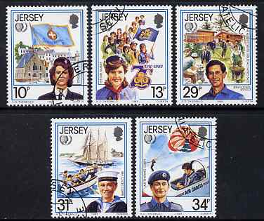 Jersey 1985 International Youth Year perf set of 5 fine cds used, SG 360-4