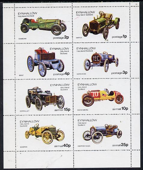 Eynhallow 1974 Vintage Cars #1 perf  set of 8 values (1p to 40p) unmounted mint