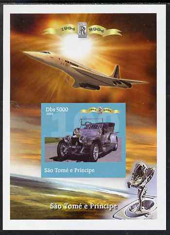 St Thomas & Prince Islands 2004 Rolls Royce Centenary #06 imperf s/sheet unmounted mint. Note this item is privately produced and is offered purely on its thematic appeal