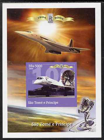 St Thomas & Prince Islands 2004 Rolls Royce Centenary #08 imperf s/sheet unmounted mint. Note this item is privately produced and is offered purely on its thematic appeal