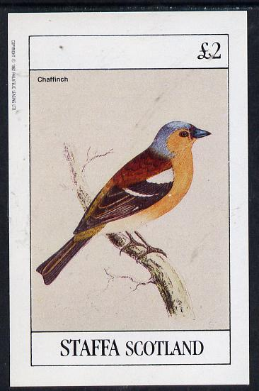 Staffa 1982 Birds #08 (Chaffinch) imperf deluxe sheet (�2 value) unmounted mint