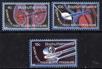 Bophuthatswana 1983 World Hypertension Month set of 3 unmounted mint, SG 22-4