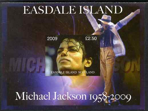 Easdale 2009 Michael Jackson imperf m/sheet unmounted mint