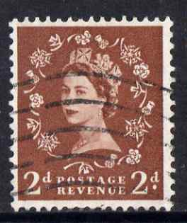 Great Britain 1957 Wilding 2d graphite fine used SG564