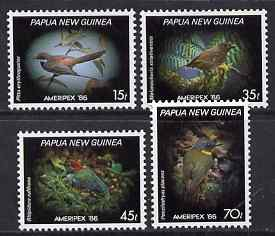 Papua New Guinea 1986 Ameripex '86 - Birds perf set of 4 unmounted mint SG N4020-23
