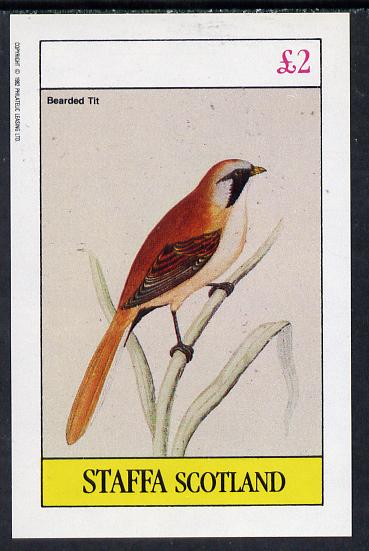 Staffa 1982 Bearded Tit imperf deluxe sheet (�2 value) unmounted mint