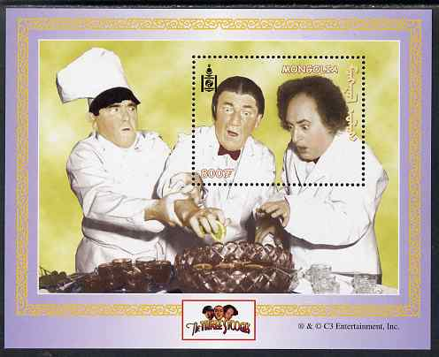 Mongolia 2001 The Three Stooges (Comedy series) perf m/sheet unmounted mint, SG MS 2946