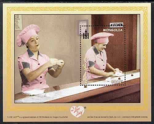 Mongolia 2001 I Love Lucy (TV Comedy series) perf m/sheet unmounted mint, SG MS 2944a