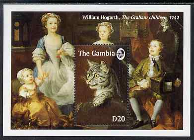 Gambia 1994 Paintings of Cats perf m/sheet (Hogath) unmounted mint, SG MS 1931a