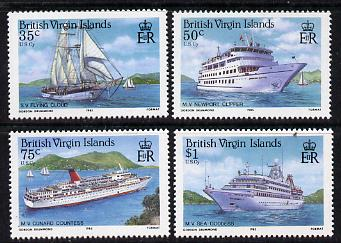 British Virgin Islands 1986 Visiting Cruise Ships set of 4 unmounted mint, SG 592-5