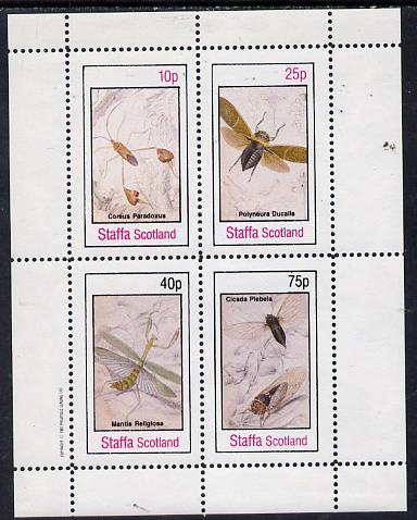 Staffa 1982 Insects perf  set of 4 values (10p to 75p) unmounted mint