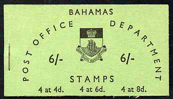 Booklet - Bahamas 1965 6s booklet (green cover) complete and fine, SG SB5