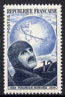 France 1951 Maurice Nogues (aviator) 12f unmounted mint SG 1128