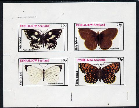 Eynhallow 1982 Butterflies (Papilio Galathea etc) imperf  set of 4 values (10p to 75p) unmounted mint