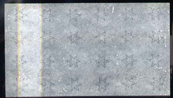 Perkins Bacon small star watermarked paper, piece with 24 stars (6 x 4) ungummed.  Paper as used for Antigua, Barbados, Grenada, Queensland, St Lucia, St Vincent and Turk...