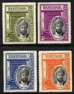Zanzibar 1936 Silver Jubilee of Sultan perf set of 4 mounted mint SG 323-6